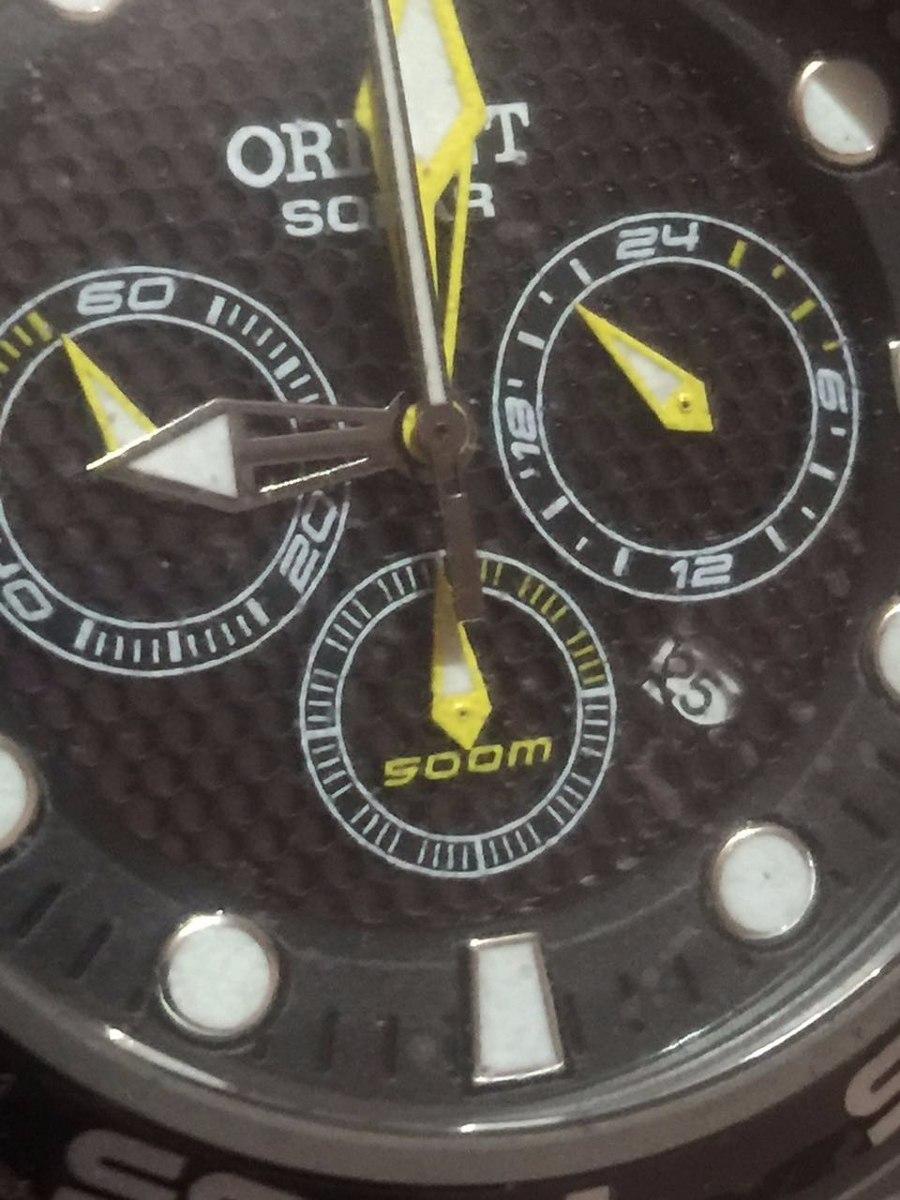 7e0a0059333 Relógio Orient Titânio Sea Tech Mbttc014 - 500m Solar Tipo - R ...