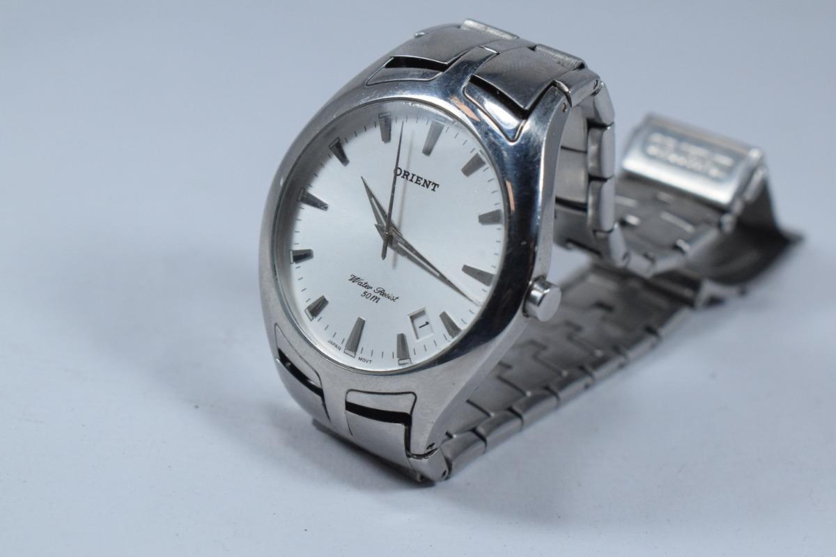 e7e87bbbf47 relógio orient water resist 50m. Carregando zoom.
