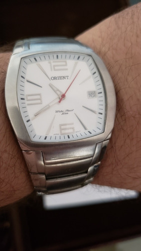 relógio oriente pulseira de aço