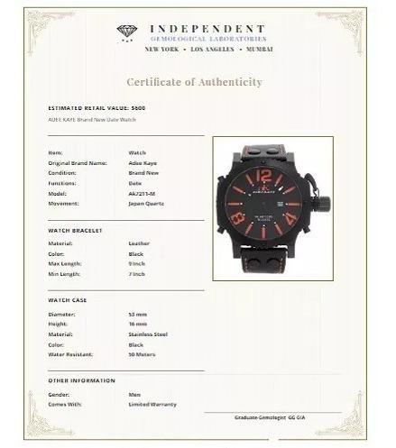 relógio original adee kaye ak7211-m importado u s a.