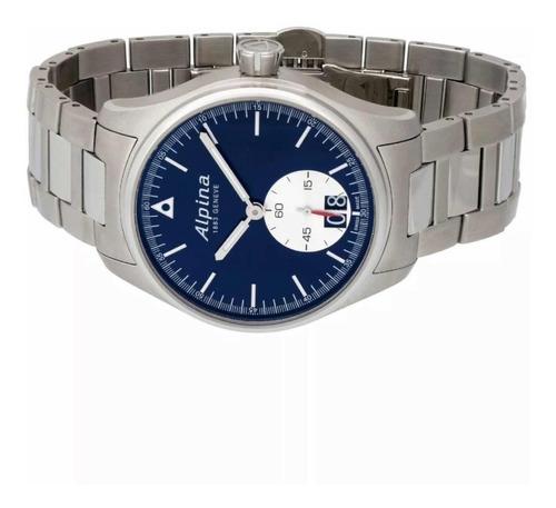 relógio original alpina startimer pilot big date quartz novo