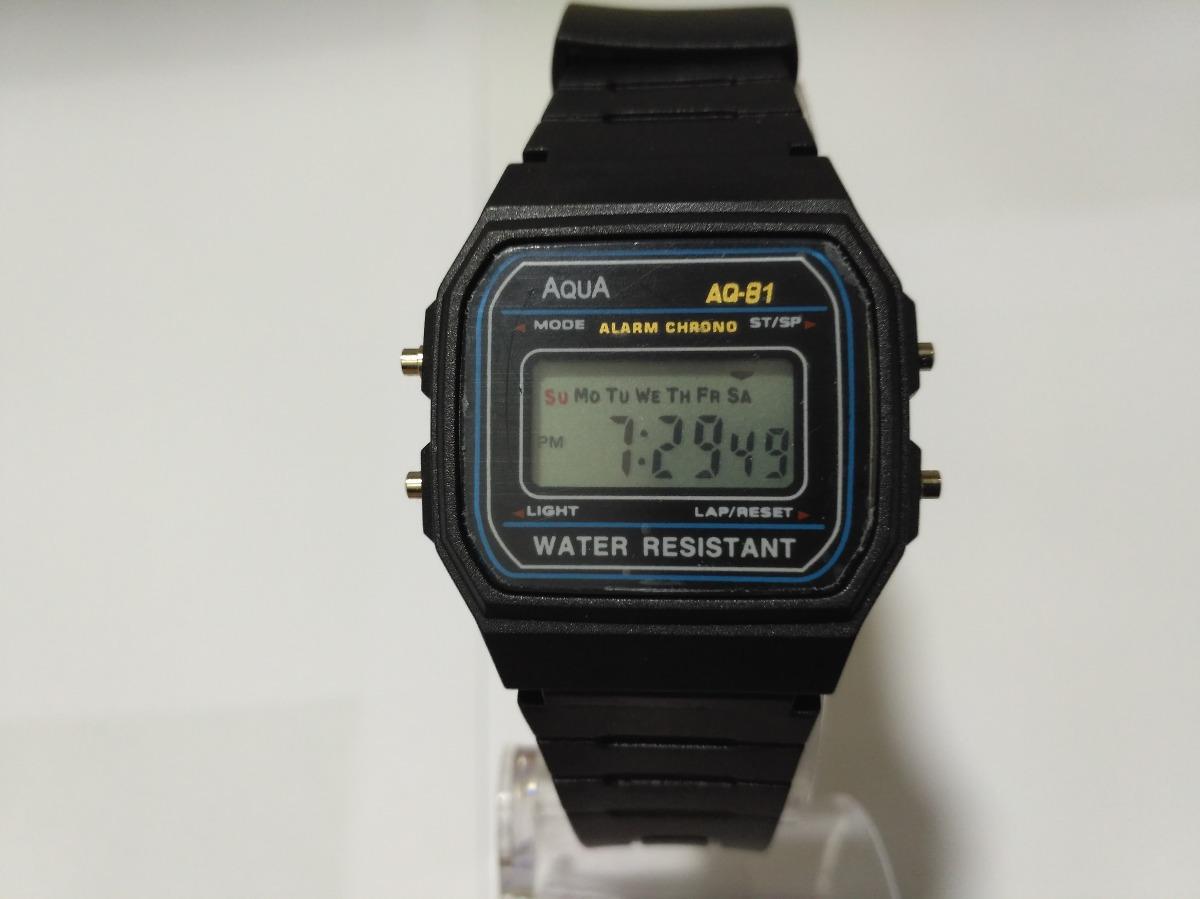 e449a9e75f1 relógio original aqua waterproof a prova dagua aq 81. Carregando zoom.