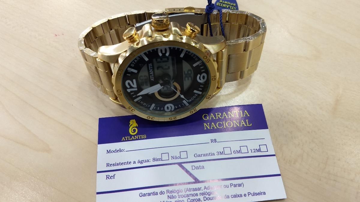fb617cb2d23 relógio original atlantis dourado feminino frete gratis. Carregando zoom.
