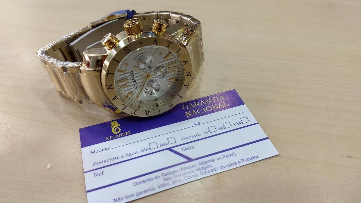 1d5ff3660ef Carregando zoom... relógio original atlantis dourado luxo modelo bulgari ...