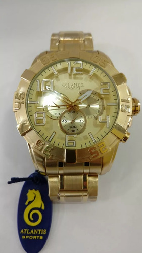 relógio original atlantis legacy dourado resistente frete gr
