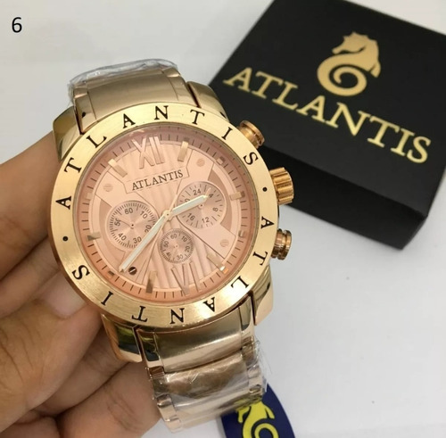 relógio original atlantis masculino social varias cores top