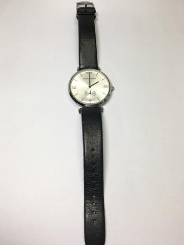 relógio original empório armani pulseira couro preto usado