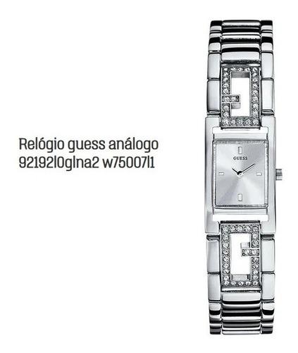 relógio original guess análogo prata modelo 92192l0glna2 w75