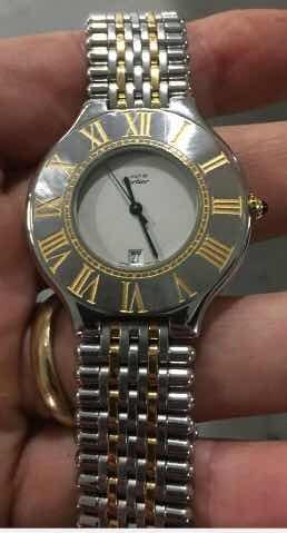 9118a220a39 Relógio Original Masculino Must De Cartier - R  4.900