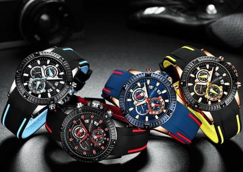 relógio original masculino pulseira de silicone mini focus