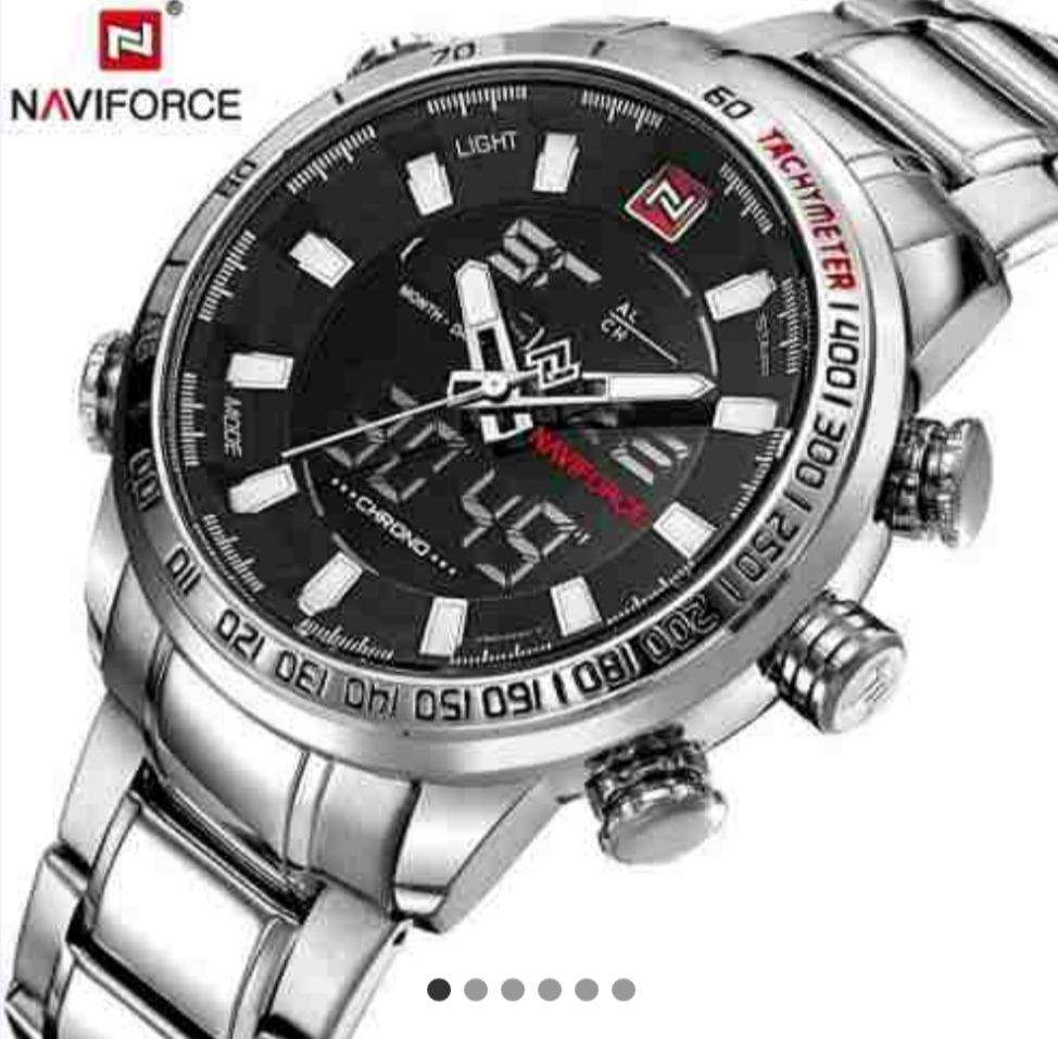 26027d01324 Relógio Original Naviforce Nf 9093 Prata - R  123