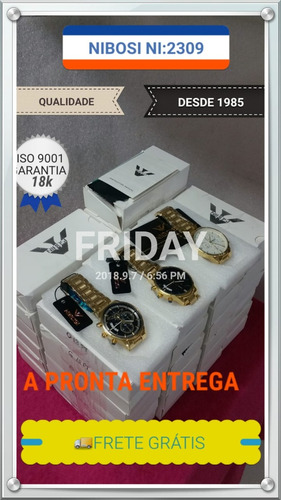 relógio original nibosi atacado 10 unidades
