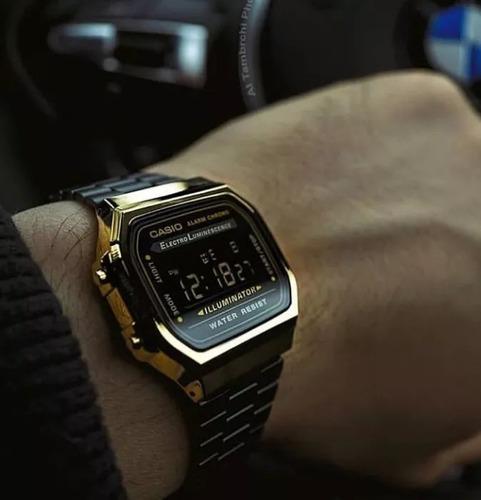 relógio original preto pantera gold vintage retrô edição limitada promoção - acompanha caixa linda! ideal para presente