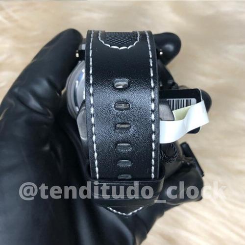 relógio original pulseira de couro weide 1601 masculino