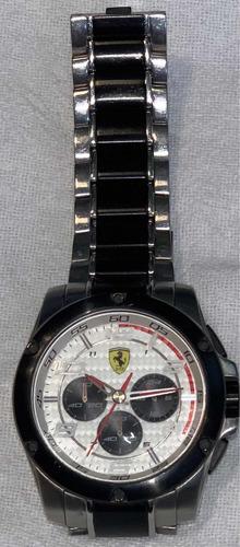 relógio original scuderia ferrari, pulseira em aço