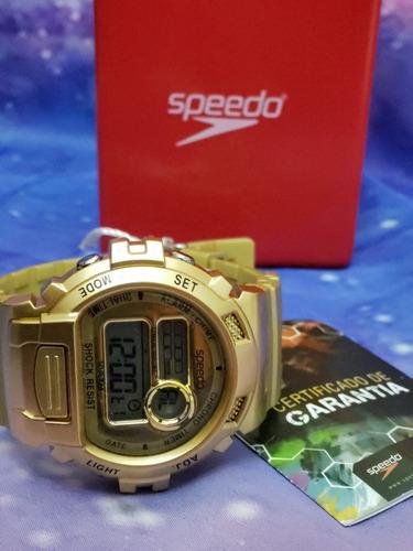 relógio original speedo dourado estilo g shock lindao