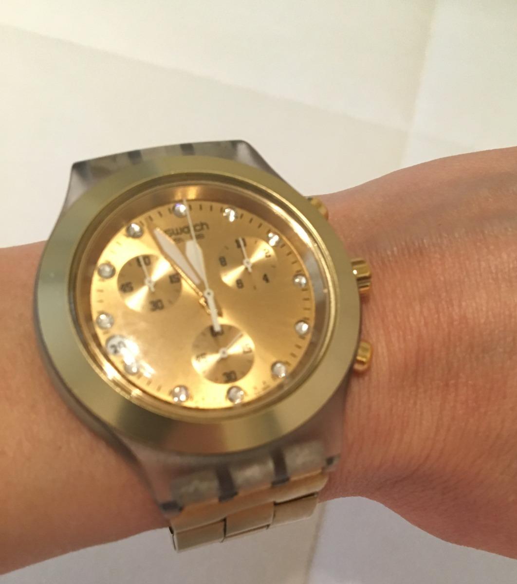cf974e5cf59 relogio original swatch dourado. Carregando zoom.