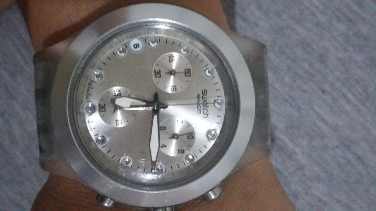 1747cac4d0a Relógio Original Swatch Irony Diaphane Aluminium - Feminino - R  230 ...