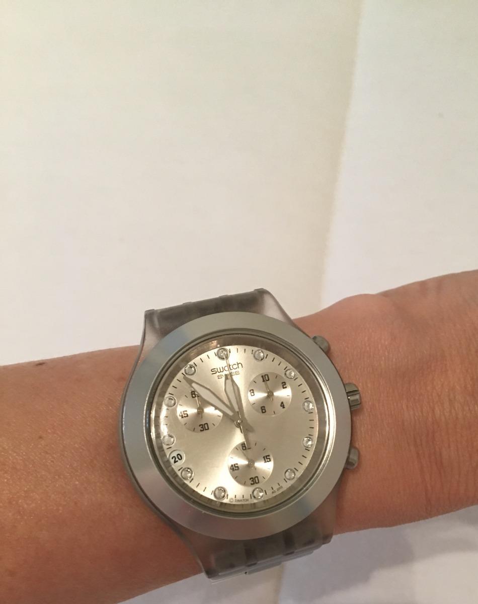83beee456af relogio original swatch prata full blodded. Carregando zoom.