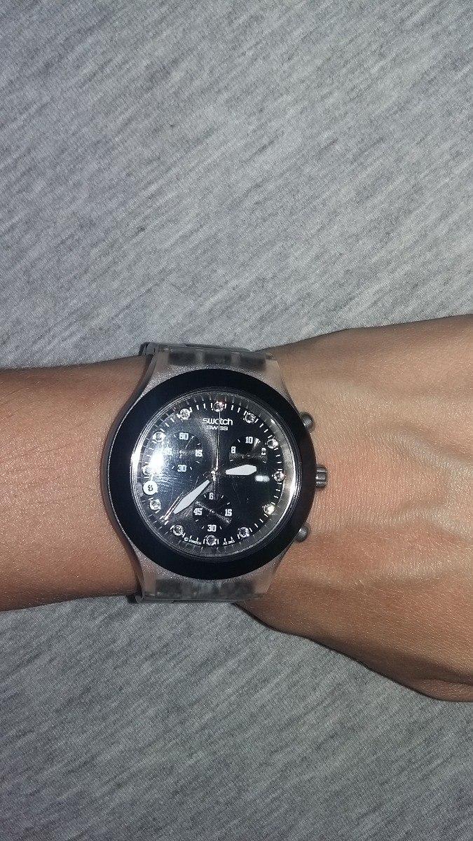 fcb83a5dd94 relógio original swatch swiss diaphane preto - feminino. Carregando zoom.