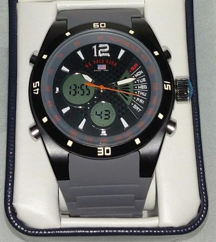 relógio original u.s. polo assn. analógica digital masculino
