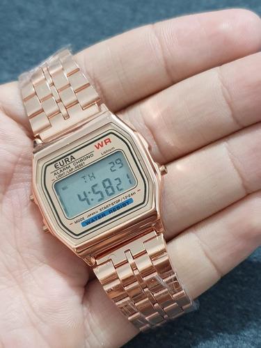relógio original vintage retrô marca eura digital feminino