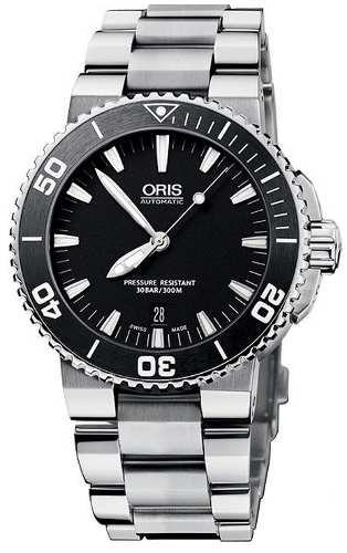 84fd9d6c5b8 Relógio Oris Aquis 73376534154 Automatico 43mm Black Dial - R ...