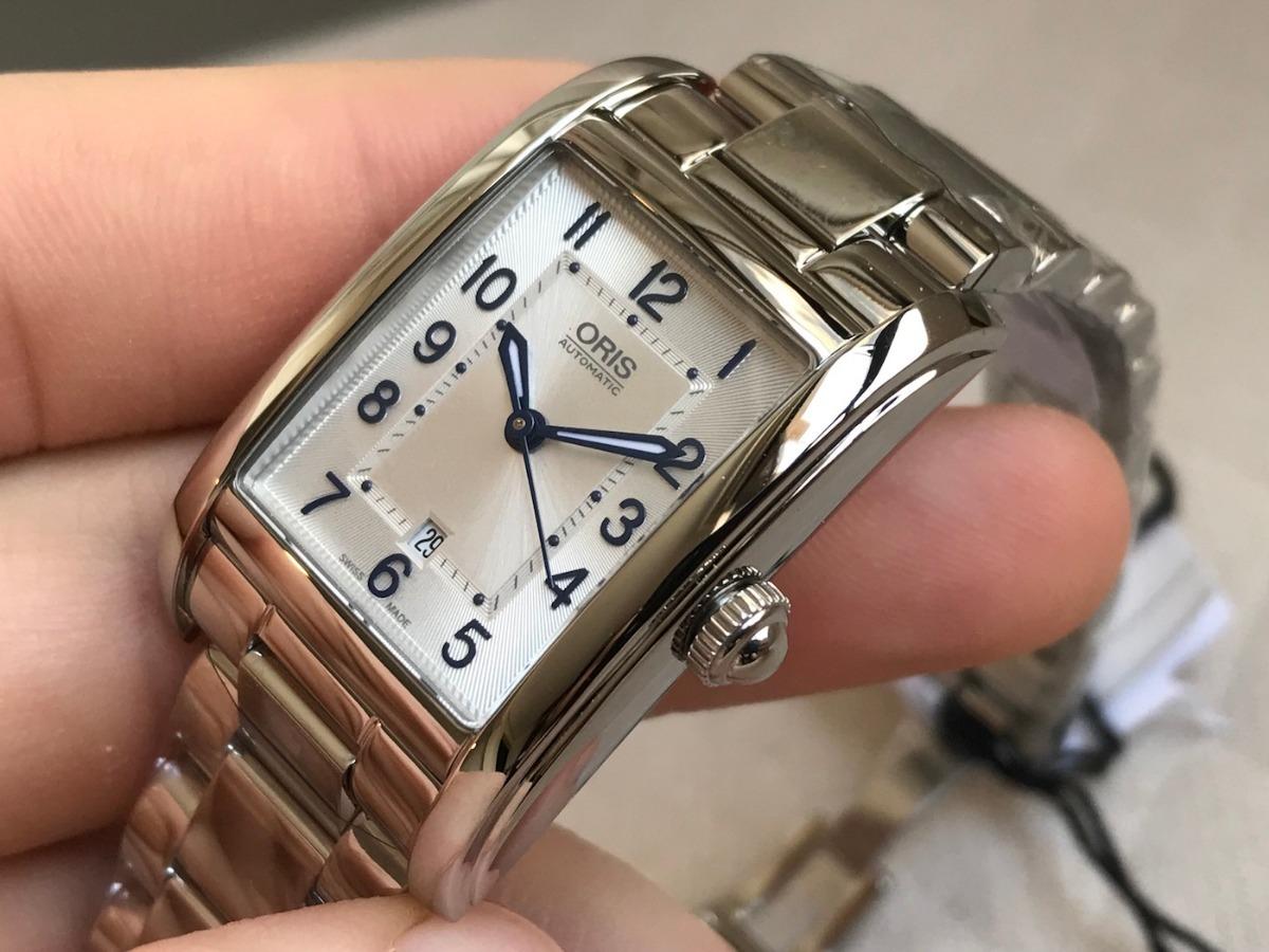 e33c57cff96 relógio oris rectangular date automatic ladies 56176924031mb. Carregando  zoom.