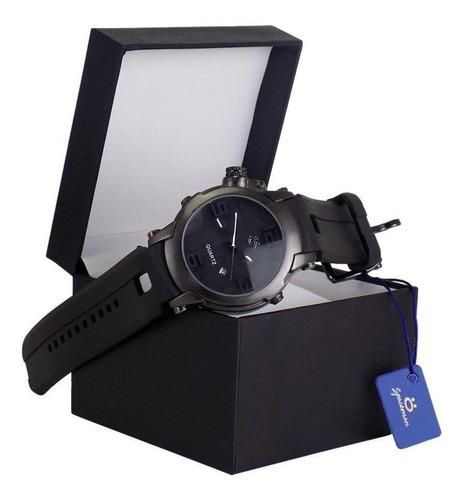 relógio orizom spaceman preto caixa