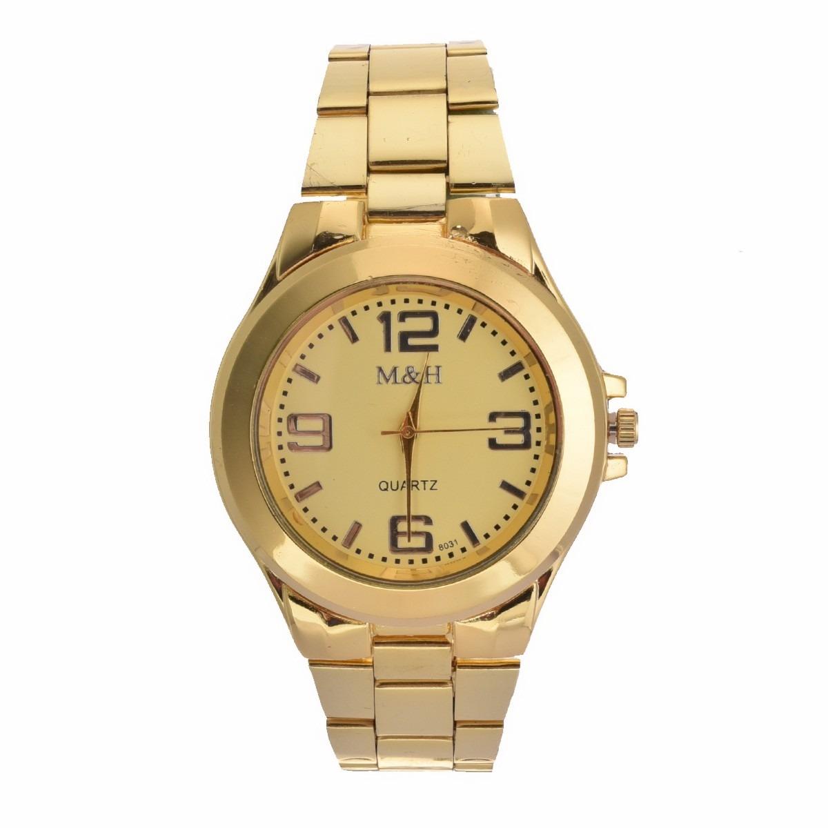 67f014259 Relógio Ostentação Tamanho Grande Aço Inox Folheado - Oferta - R  78 ...