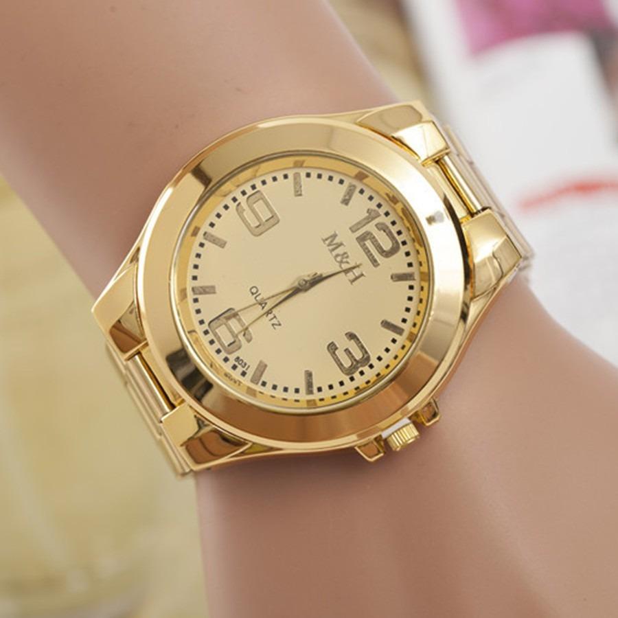 69fc66c34b7 relógio ostentação tamanho grande aço inox folheado - oferta. Carregando  zoom.
