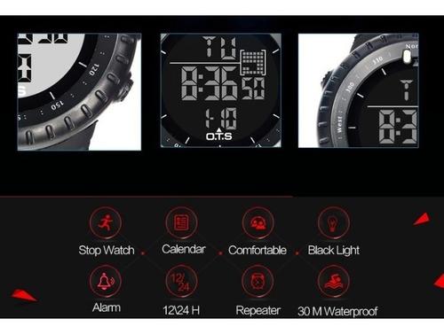 relógio ots esportivo militar prova d'água 7005g