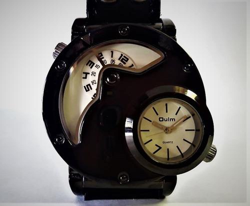 relógio oulm militar aço inoxidavel