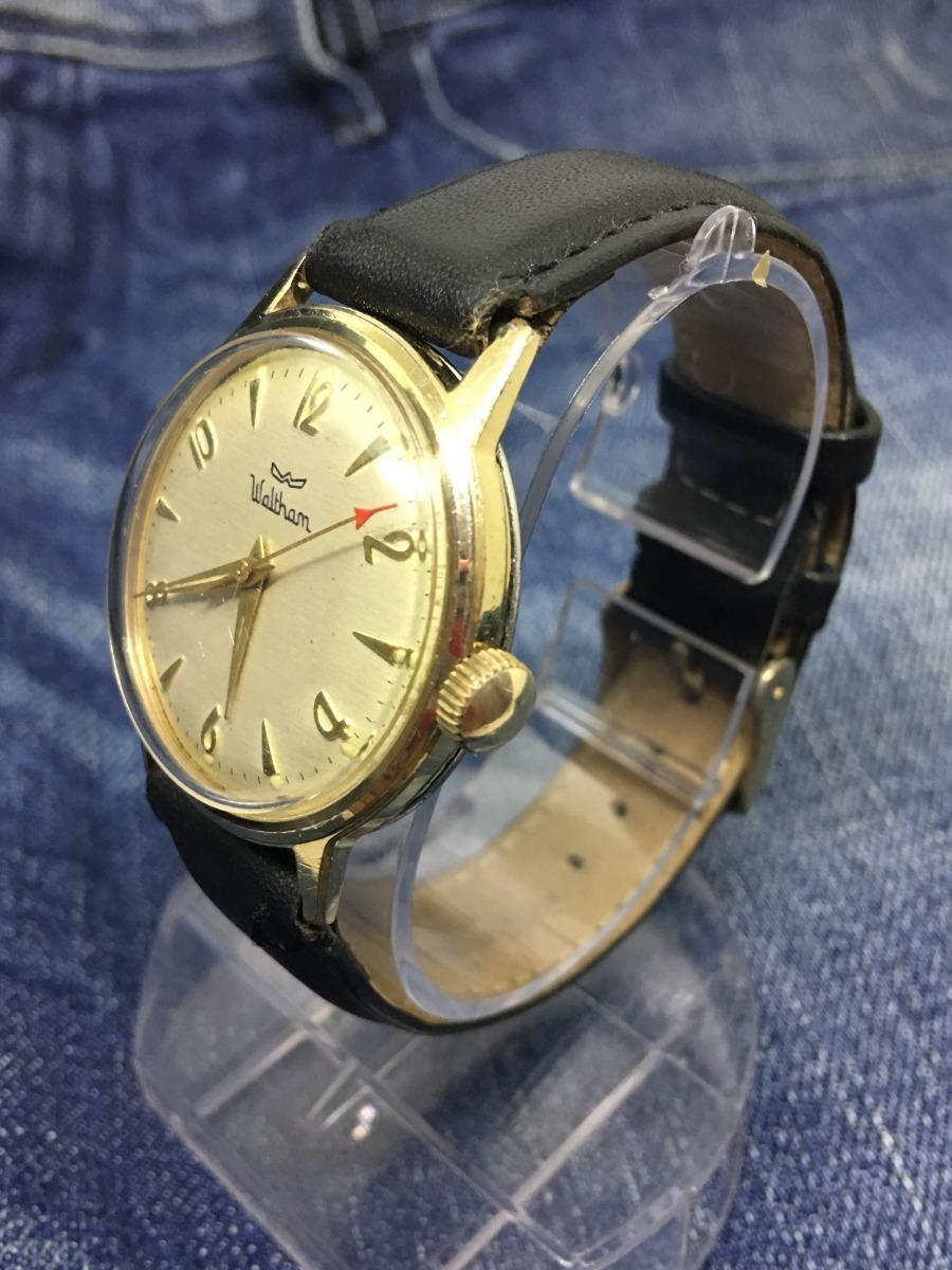57118aa0f14 Relógio Ouro 18 K Plaquê Nivel Omega Suiço Waltham A Corda ! - R ...