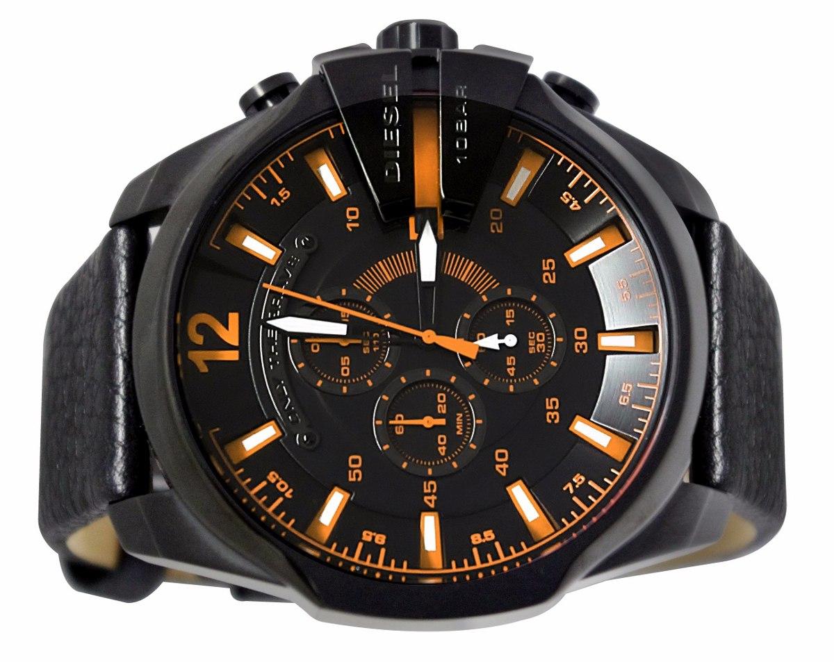 3865949603622 relógio p65 diesel dz4291 couro preto original com caixa. Carregando zoom.