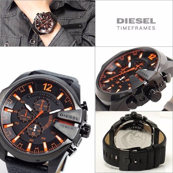 Relógio P65 Diesel Dz4291 Couro Preto Original Com Caixa - R  550,00 ... 55b5e62713
