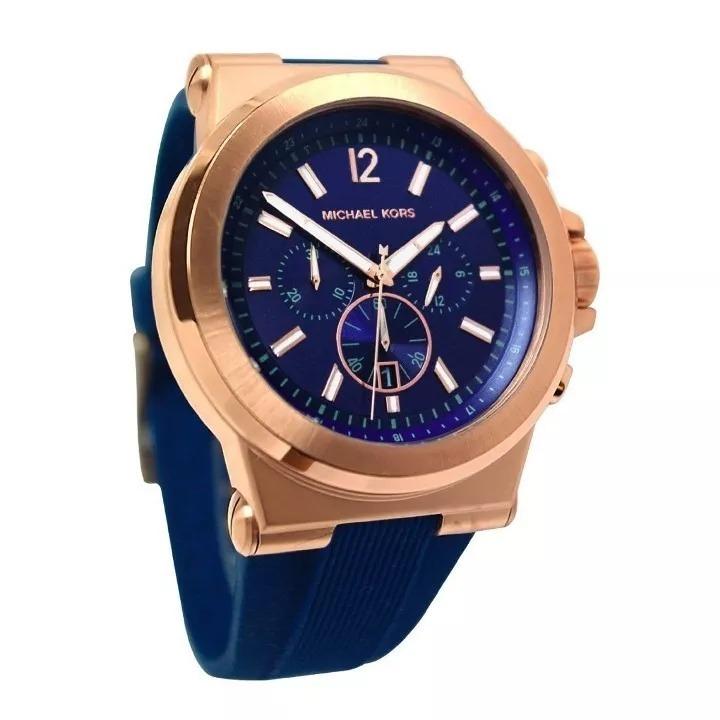 Relógio Pa097 Original Michael Kors Mk8295 Azul - R  319,77 em ... 5dc31816cb