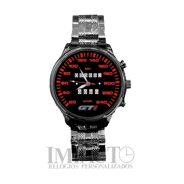 8ba041b25ff Relógio Painel Gol Gti Cod. 2905g Black Chrome Impacto - R  84