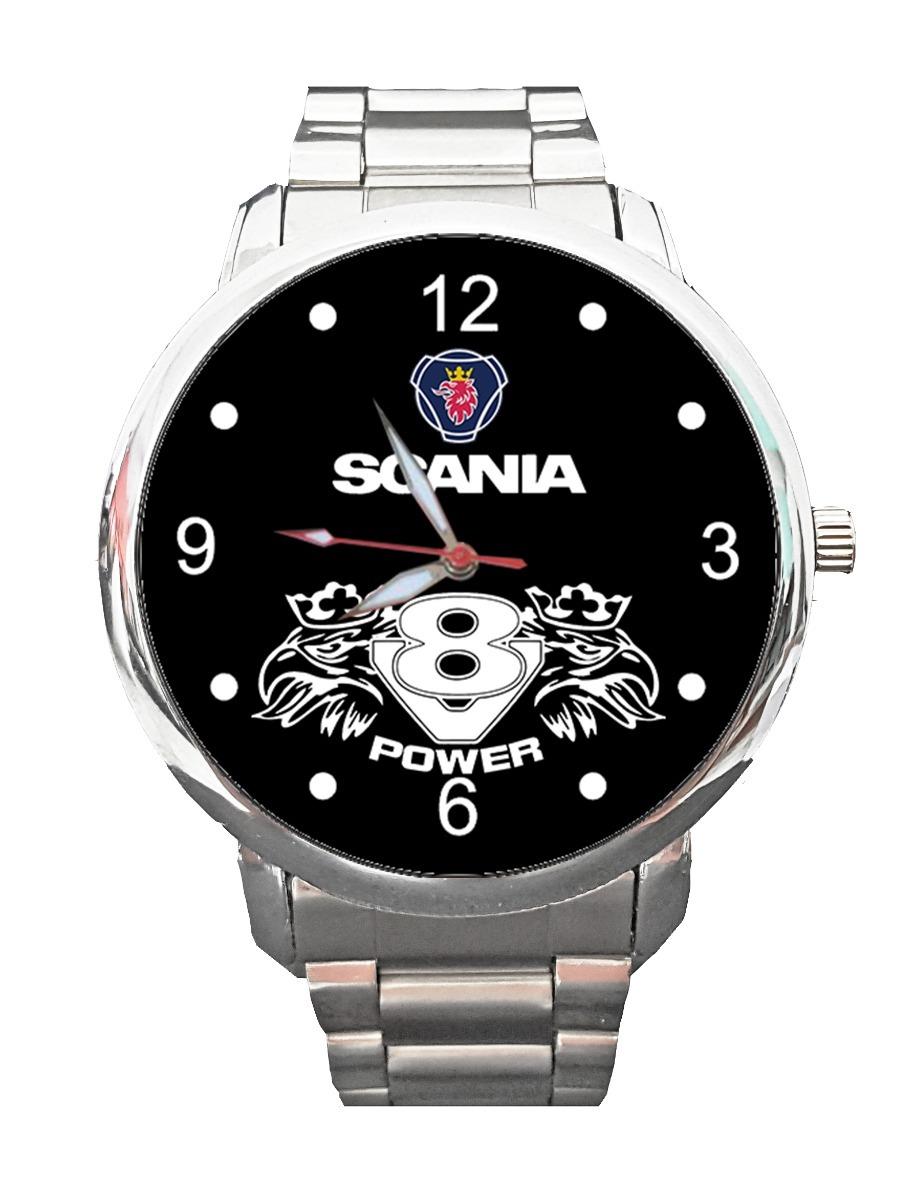 2d834252a11 Relógio Painel Scania Logo Onibus Caminhão V8 Streamline1 - R  77