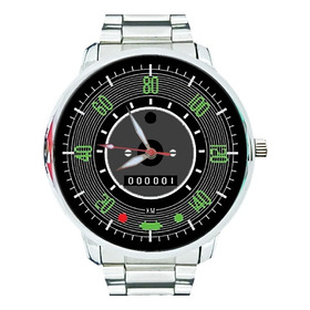 Relógio Painel Velocímetro Fusca Verde Cinza 67 À 70 Coleção