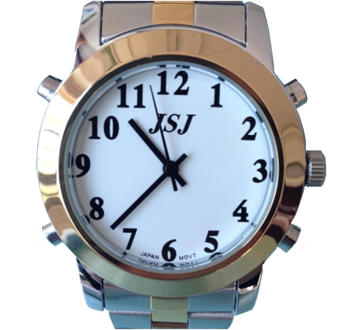 1920090411b relógio para deficiente visual dourado idioma português. Carregando zoom.