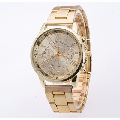 c37633f39e5 Relógio Para Mulher De Pulso Dourado Aço Inoxidável Feminino - R  91 ...