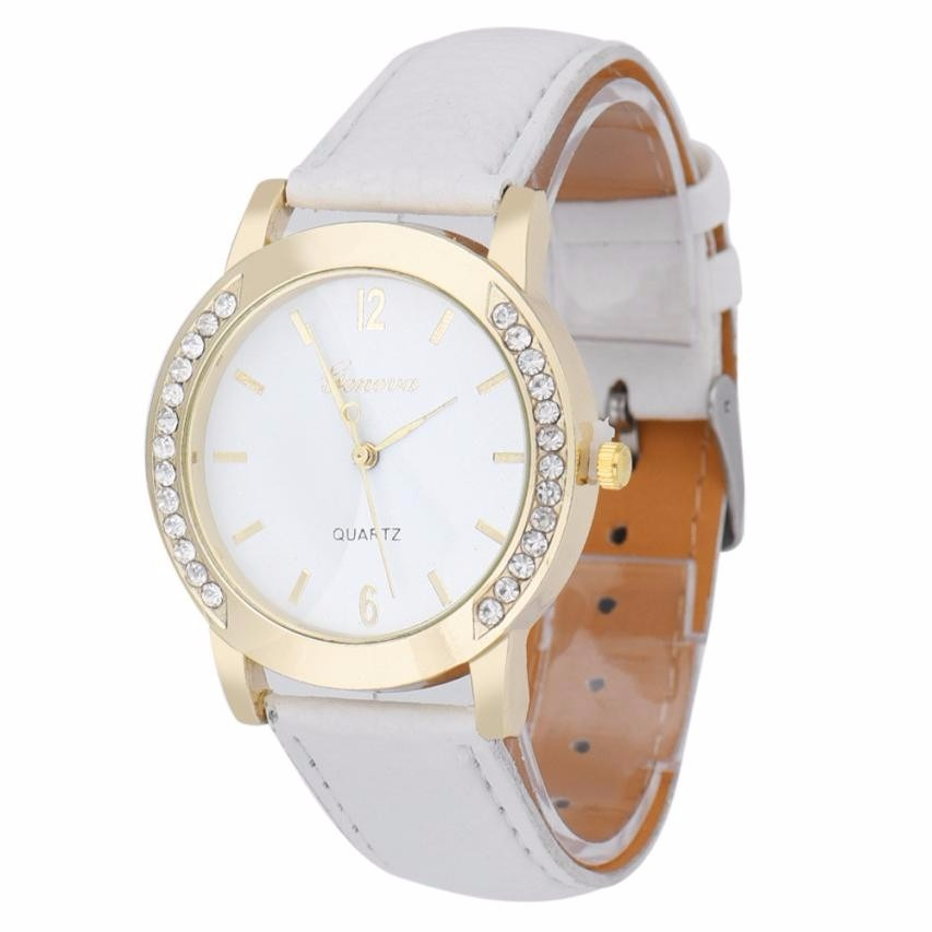 eb26e496ba1 relógio para mulheres branco dourado bonito barato promoção. Carregando  zoom.