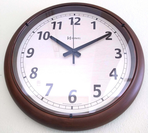 relógio parede 40cm envelhecido velho retrô herweg 6654