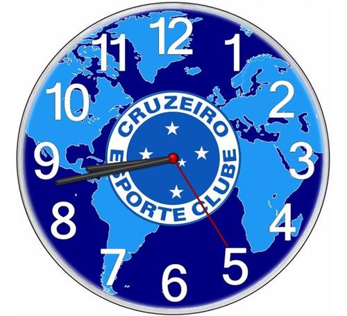 relógio parede barato personalizado torcedor cruzeirense