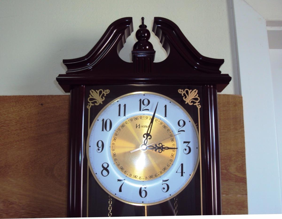 eeedb8264f5 relógio parede carrilhão pendulo westminster herweg 6446-84. Carregando  zoom.