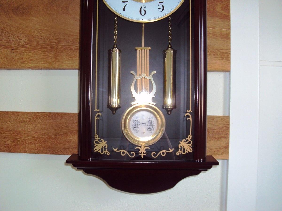 98e5a9aef64 Relógio Parede Carrilhão Pendulo Westminster Herweg 6446-84 - R  695 ...