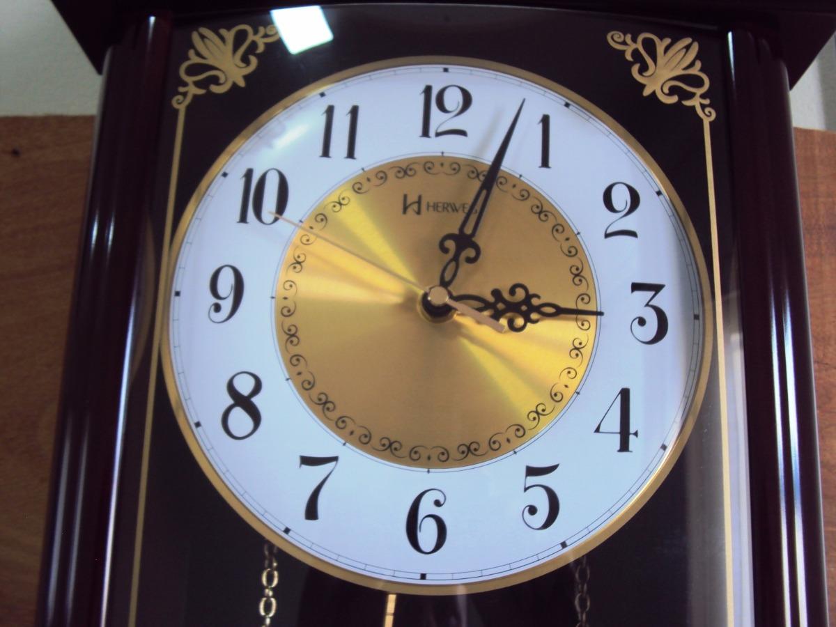 dee171c4c71 Relógio Parede Carrilhão Pendulo Westminster Herweg 6446-84 - R  695 ...