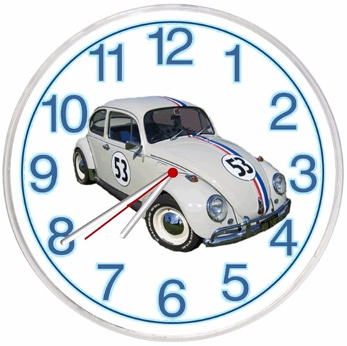 relógio parede cozinha retro vintage decorativo fusca 02