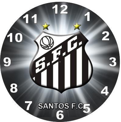 relógio parede decoração futebol santos tamanho grande